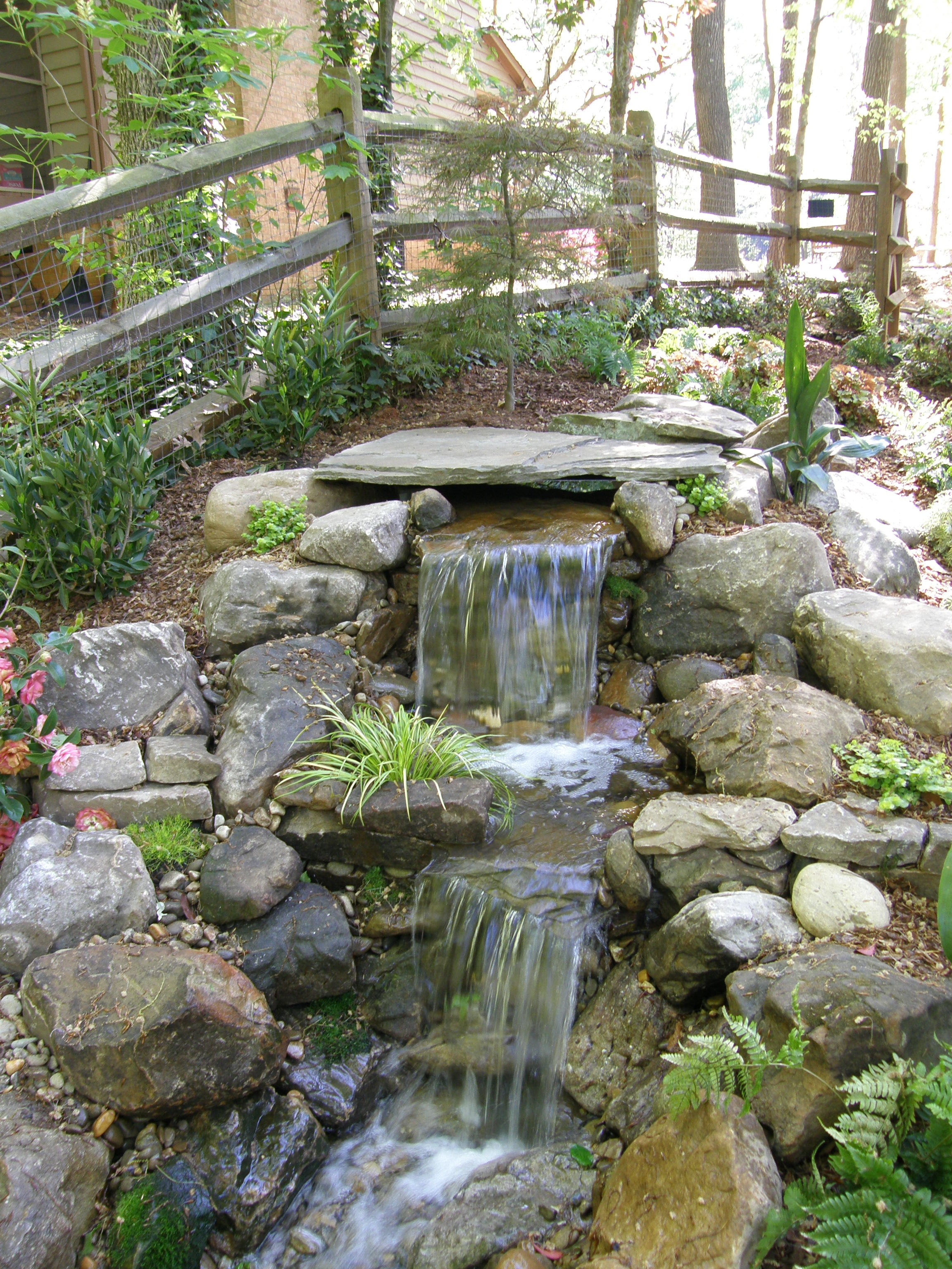 Products for Garden design with pond and waterfall